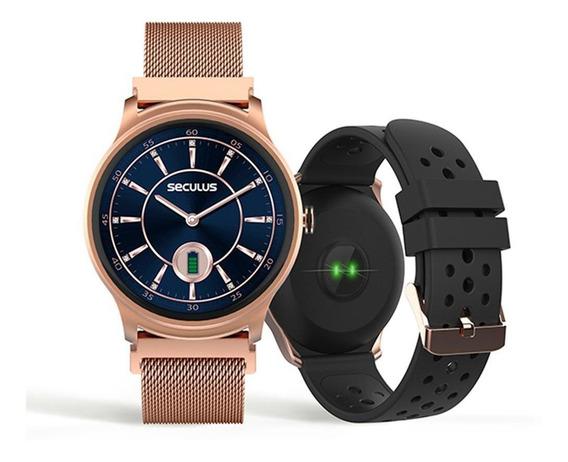 Relógio Unissex Seculus Smartwatch 79005lpsvre1 49mm Rosé