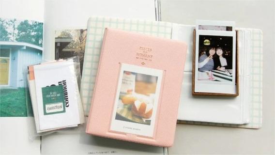 Album De Fotos Instax Mini 64 Fotos Polaroid Rosa