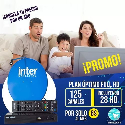 Kit Inter Satelital Decodificador Antena Lnb Nuevo