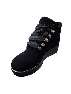 Bota Dama Dulce Noelia C/cintas, Color Negro Talles 35/40.