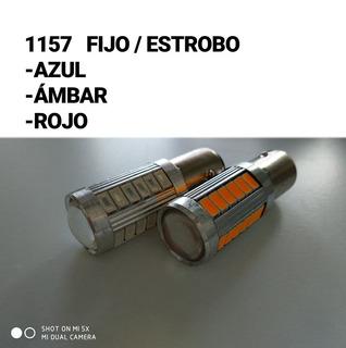 X2 Focos Led Fijo/estrobo 1157 Bay15d P21 Super Brillo Lupa