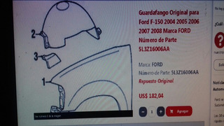 Guardafango Ford F-150 2004-2008