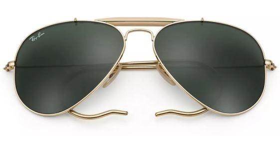 Lente Ray-ban 3030 L0216 Outdoorsman Dorados 100% Original