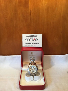Reloj De Hombre Sector Modelo Adv6500 Cronógrafo Bi-timer