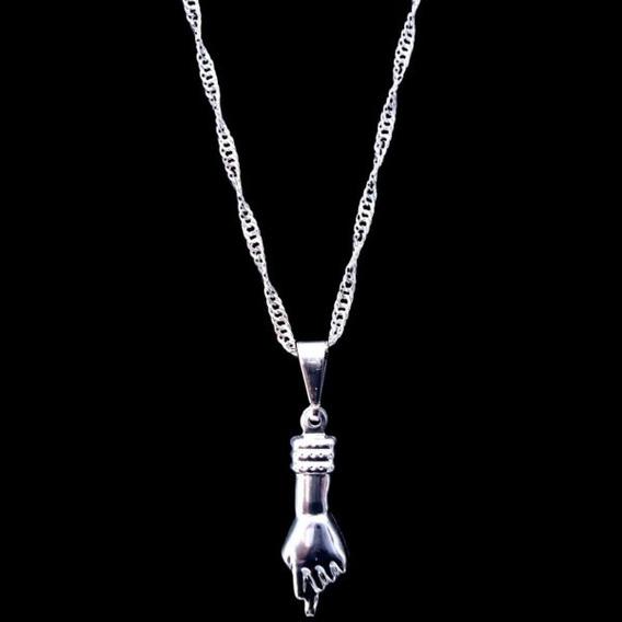 Amuleto Patua Figa Sorte Proteção Prosperidade Prata Maciça