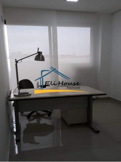 Eli House Imóveis - Sala Comercial 10m2 Com Consultório Mobiliado - Espaço Cerâmica - Scsul - Sa00092 - 33589706