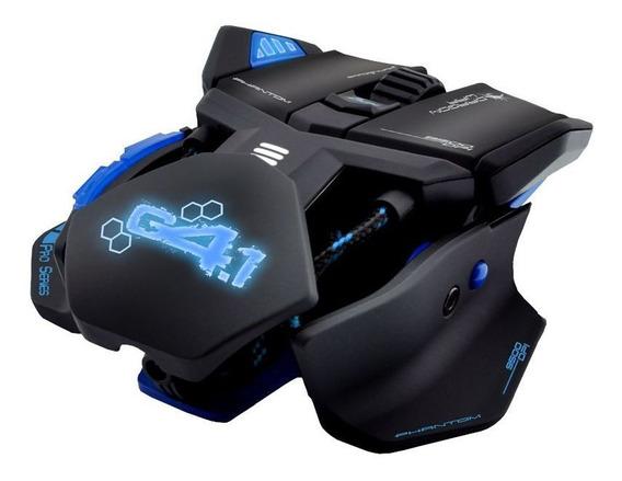 Mouse Gamer Pro Azul 9500 Dpi 9 Botões Chassi Metal Original