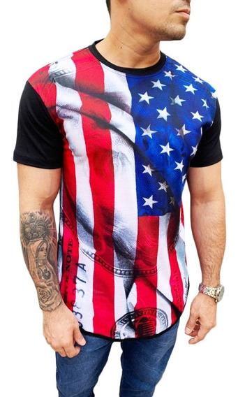 Kit 5 Pç Camisas Long Line Masculina Oversize Swag Promoçao