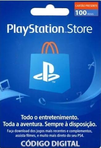 Cartão Playstation Br Brasil Psn R$100 Reais Plus Brasileir