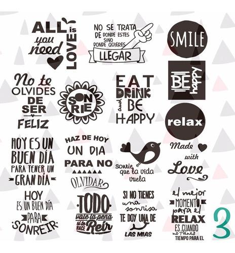 Vinilo Para Frascos Vasos Stickers Frases Personalizadas