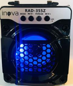04 Mini Caixa De Som Inova Rad-8114 6w Bt/usb/tf/fm Rádio