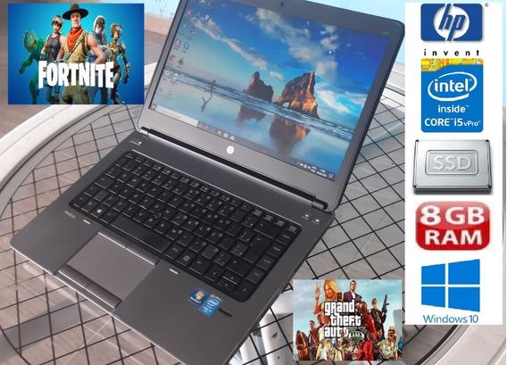 Notebook Hp Core I5 Vpró 4ªg Ssd 256gb 8gb Dock E Fonte 120w