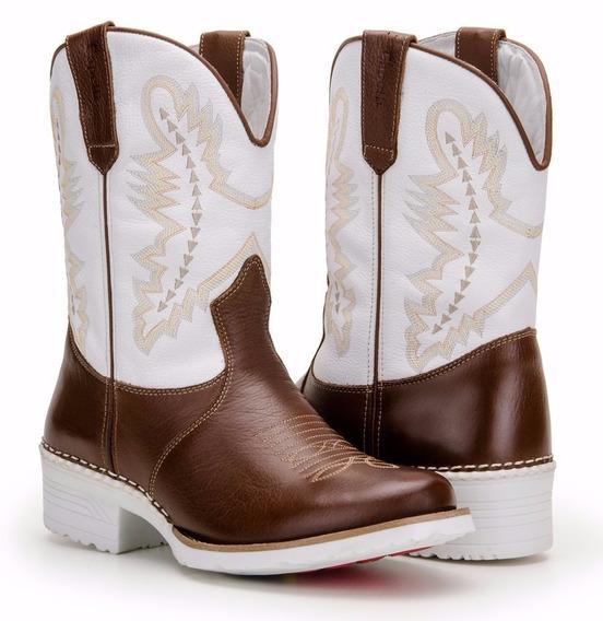 Bota Feminina Country Texana Montaria Couro Capelli Boots