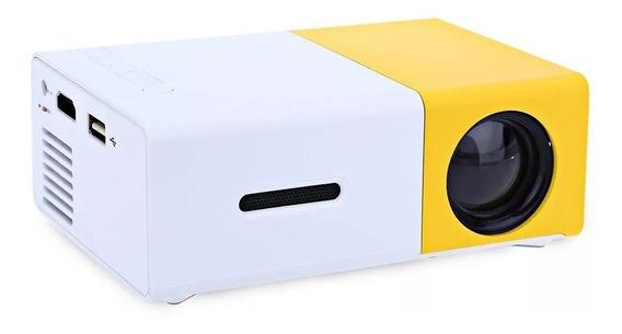Mini Projetor Led Home Cine 600 Lumes Av Hdmi 60 Polegadas