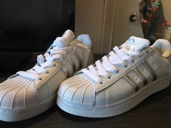 adidas Superstar (blancas Y Plateadas)