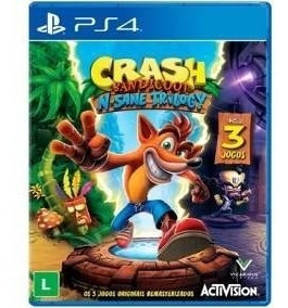 Crash Bandicoot N Sane Trilogy Ps4 Mídia Física Lacrado