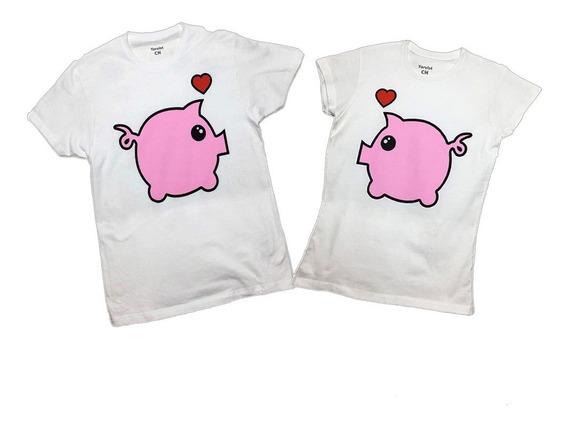 Playeras De Pareja Pigs Cerditos Amor