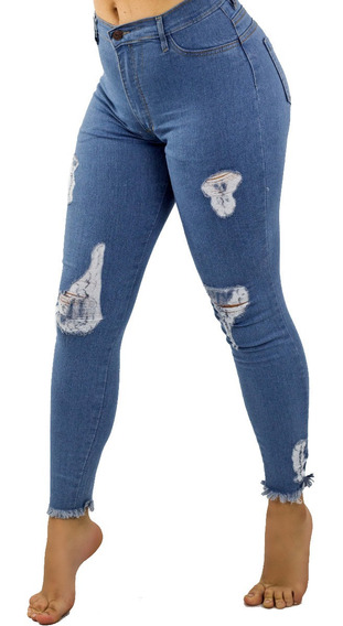 Pantalon Holiday Jeans Azul Marino Juvenil Damas Detal Mayor