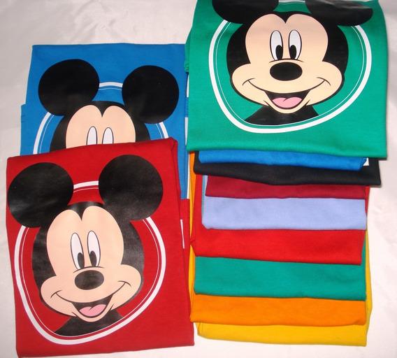 12 Remeras P/niños De Algodón Mickey Disney Baby