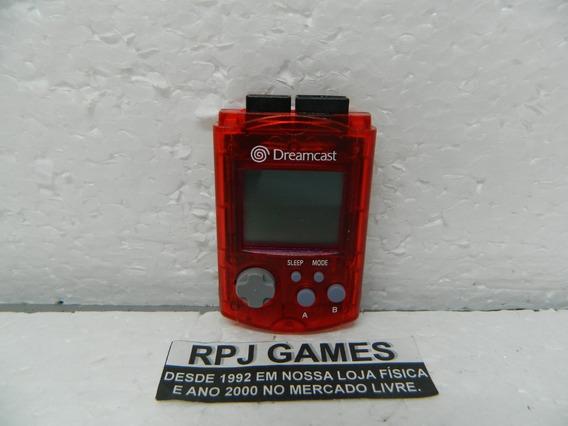 Vmu Memory Card Original Vermelho P/ Dreamcast - Loja No Rj