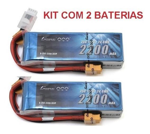 Lipo Bateria Kit Com 2 X 3s 11.1v 2200mah 25/50c Gens Ace