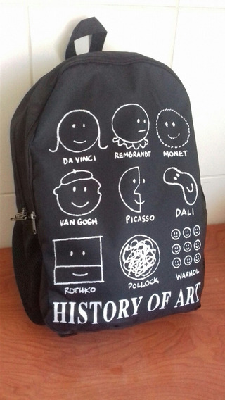 Mochila Con Diseño Historia Del Arte Accesorio Artista