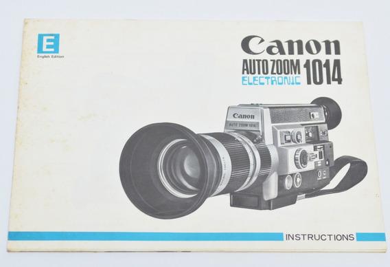 Manual Original Filmadora Super 8 Canon Auto Zoom 1014