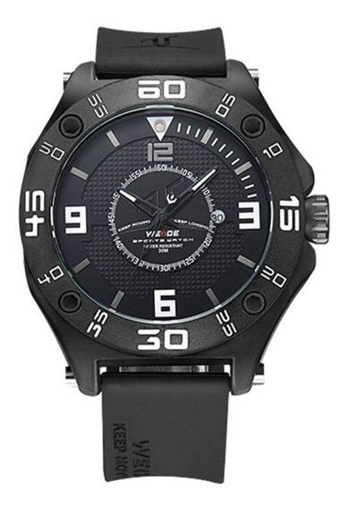 Relógio Masculino Preto Weide Uv-1502 Analógico