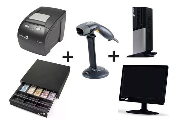 Impressora + Gaveta + Leitor S500 + Monitor + Computador