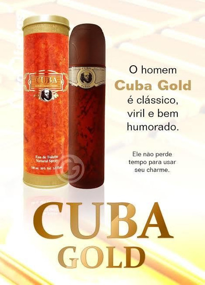 Perfume Cuba Paris Gold Ou Royal 100ml Original