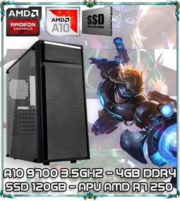 Cpu Pc Gamer A10 9700 3.5ghz 4gb Ddr4 Apu 250 Ssd 120gb 015p