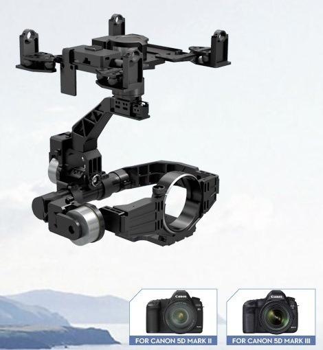 Gimbal Dji Z15-5d-câmeras Canon Mark Ii E Iii (drone S1000)