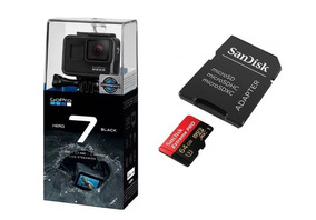 Gopro Hero7 Black Câmera Digital+ Microsd 64gb Extreme Pró