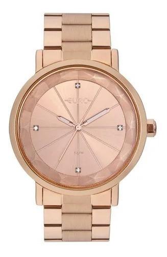 Relógio Feminino Euro Aço Rose Eu2035yrv/4j