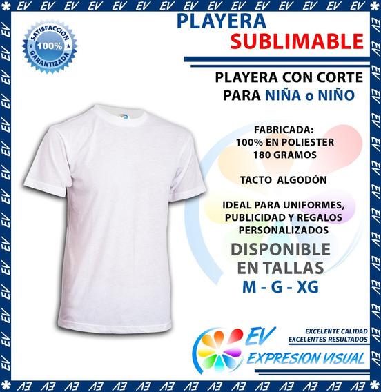 Playera Blanca Sublimacion Tacto Algodón Colormake Niña Niño