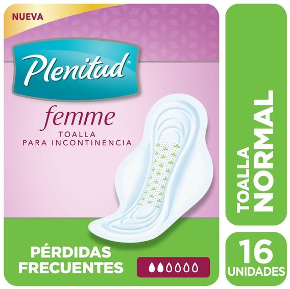 Plenitud Toalla Normal Femme X 16 Unidades