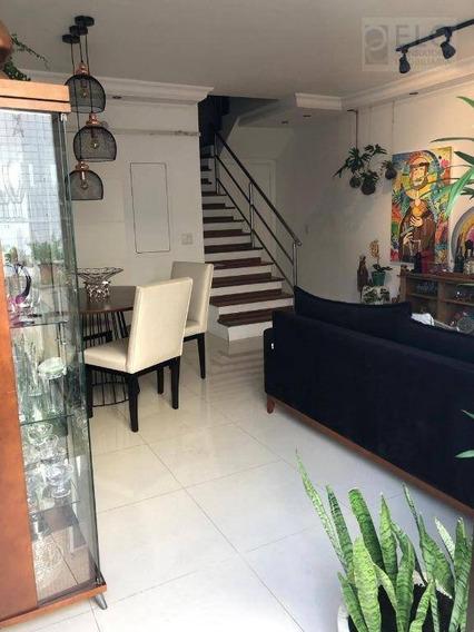 Cobertura Com 3 Dormitórios Para Alugar, 135 M² Por R$ 8.500/mês - Embaré - Santos/sp - Co0053