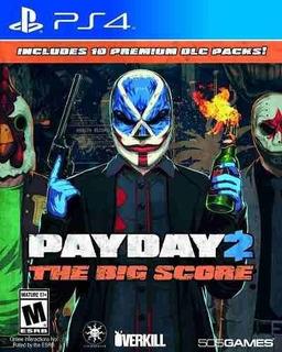 Payday 2 The Big Score, Ps4, Disco, Nuevo Y Sellado