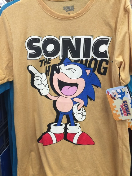 Sonic The Hedgehog Sega Adventure T-shirt Camiseta Playera