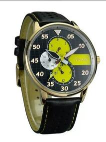 Relógio Masculino Tierxda Analógico 5274g Amarelo, Novo