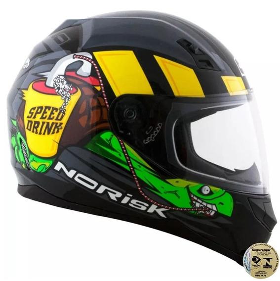 Capacete Norisk Ff391 Speed Drink Cinza 56/s