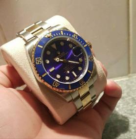 Relógio Masculino Submariner Misto Azul Automático