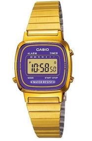 Relógio Casio Vintage Feminino Digital La-670wga-6df