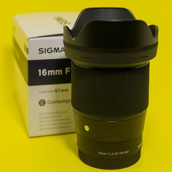 Sigma 16mm F/1.4 Sony R$3000 A Vista