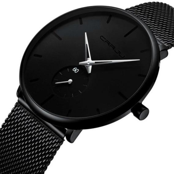 Relógio Masculino Crrju Casual De Pulso Original De Luxo