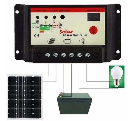 Controlador De Carga Solar Pwm 30a Lcd 12-24v | Automatico