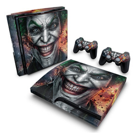 Skin Ps3 Slim Adesivo Playstation 3 Coringa Joker