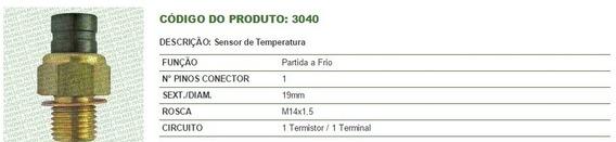 Sensor Temperatura Partida A Frio Fiat 1500 Motor Alcool