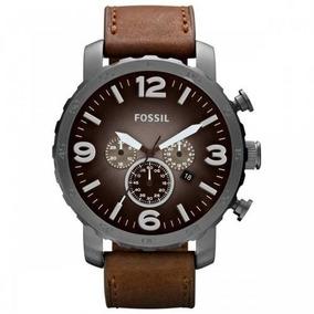 Relógio Fossil Cronógrafo Fjr1424z Com Pulseira De Couro