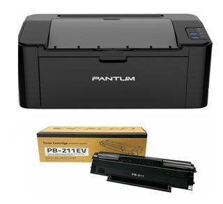 Impresora Laser Pantum P2500w P2500 Wifi + 1 Toner Original